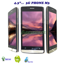 "4.3"" IPS unlock dual sim dual core smart android phone mobile M3"
