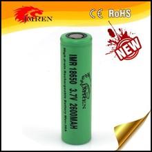 Hot imren 18650 2600mah 38a 3.7v rechargerable Li-ion battery for e-cig and mods 18650 38amp high drian imren 2600mah