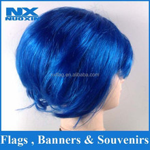 hot sell cheap blue fans wig
