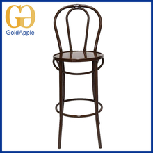 Factory Price Durable long legs metal iron bar coffee chair