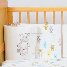 embroidery teddy bear soft velour +100% cotton knitted jersey baby bedding sets/baby bumper/Please look after me