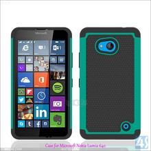 Football Texture Rugged Silicone and PC Antiskid Hybrid Case for Nokia Lumia 640 Cover