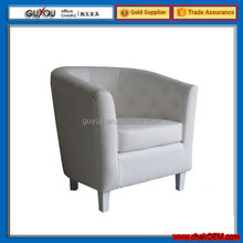 Y-5999 White Leather Leisure Corner Living Room Tub Chair
