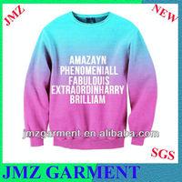 adult sublimated jersey material hangtag design sweatshirt luxury brand imitations