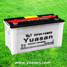 Rechargeable 12V 100AH Auto Start Lead Acid Dry Car Battery for Trucks /Tractors -95E41R