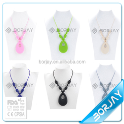 New Product For 2015 Popular Silicone Necklace Pendant For Teething Wholesale