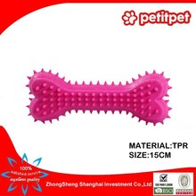 2015 Alibaba new design TPR colorful bone shaped dog toys,pet toy,dog sex toy