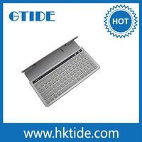 Wholesale Silver color Gtide KB651 Aluminum cover bluetooth keyboard for android tablet