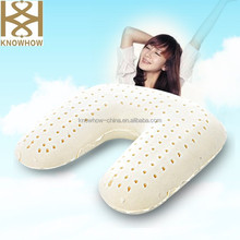 U-Shape Latex Pillow for Neck for Travel on Train or Air
