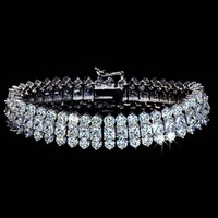 Luxury Sparkling! AAA+ Top Quality Cubic Zirconia Stones Paved Bracelet