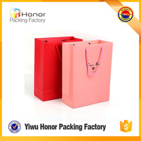 New design products popular custom wholesale grament carrier paper bag quality t-shirt pure color paper carry bag