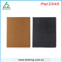 Retro Brown PU Holder For iPad 2 3 4 Cheapest Business Folding Case With Retail Packing