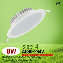 Thermal Plastic led downlight 8W 4 inch