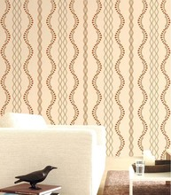 Curve line wallpaper wall covering pvc wall paper 2015