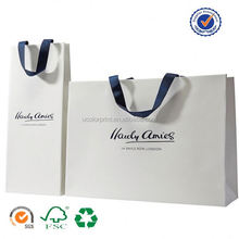 U color Customized leopard printed paper shopping bags