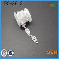 Sparkling Wedding Trim Rhinestone Chain With Crystal Stones fancy wholesale price new chain lace