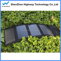 New Design Foldable Solar Mobile Phone Battery Power Station 14w Solar Charger with Dual Output