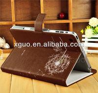 Romantic dandelion PU leather cover case for ipad mini
