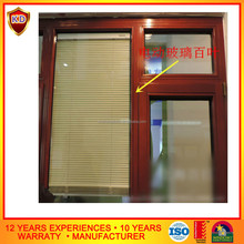 automatic blind aluminium window