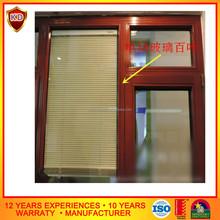 automatic blind aluminium window