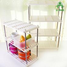 Reinforced DIY multi-purpose plastic storage rack /shelf