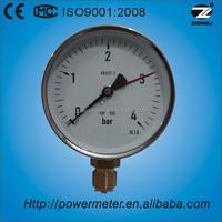 "1.5"" 40mm low pressure level gauge chormed steel case nature gas mini manometer"