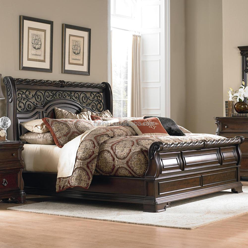 Prieel plaats traditionele amerikaanse stijl slee queen bed ...