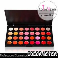 Distribuidor maquiagem 32 cores à prova d ' água lipgloss palette make your own morango batom