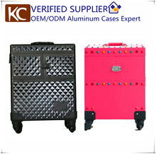 Professional Aluminum Rolling Beauty Case Makeup Case,sample available immediately