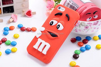 3D cartoon hot item cute soft sillicon M&M Chocolate sweet candy candies Phone Cases for iphone 4 4s 5 5S