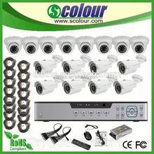 full hd 1080p vehicle blackbox dvr 16CH DVR cctv camera kits Hybrid kits(BE-9016HC8IRN8DIBA Series)