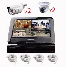 Poe cloud 720p security camera nvr kit hd 30m ir waterproof cctv camera systems with monitor 4 poe cameras pnp onvif