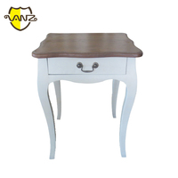 French Provencal bedside table 1 drawer white nightstand bedroom furniture VZB013