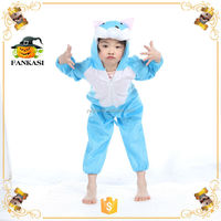 Blue Cathot furry animal costume for Children
