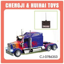 1:26 scale plastic rc semi truck toy with light for kids