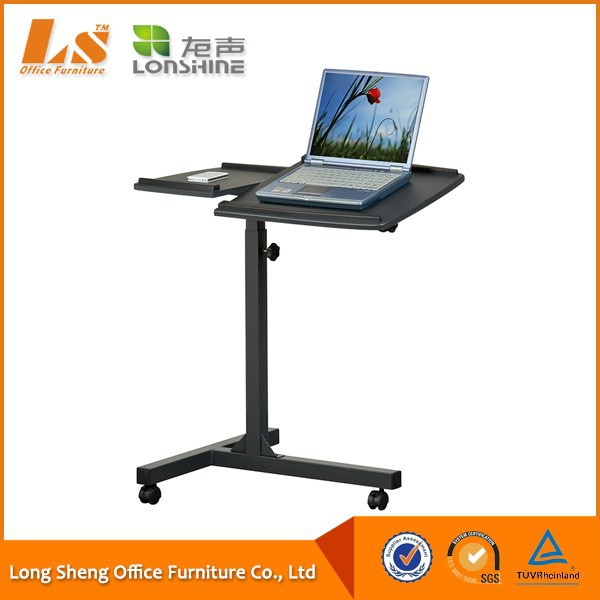 Portable Adjustable Wooden Laptop Stand With Wheels - Buy Laptop Stand