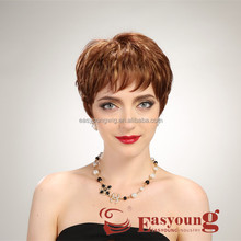 Hand tied mono lace hair wigs, kanekalon short hair styles