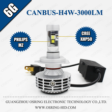 OSRING CANBUS 6G LED HEADLIGHT 3000LM ALL IN ONE CAR LED HEADLIGHT C REE LED CAR HEADLIGHT BEST QUALITY