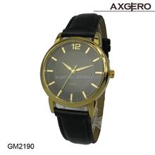 gift shop wholesale cheap mens genuine leather western quartz wrist watches 2015