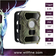 1080P full HD 3.0C night vision hunting camera from Willfine Century support cellphone remote control IP54 waterprrof