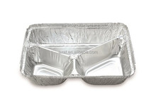 3-compartment oblong aluminum foil take-out container / board Lid pans