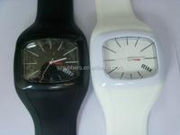 Factory New fashion cheap custom printed logo sport q&q unisex silicon jelly watch