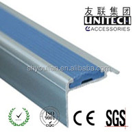 PVC aluminum stair nosing,stair edge protector step edge for carpet LD40
