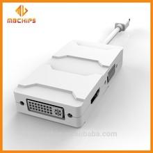 Mini dp/rayo h-d-m-i a dvi adaptador vga cable 3in1 formacbook 1080p