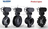 Zero Leakage Bi-directional Firesafe triple offset Butterfly Valves