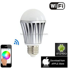 2015 best price New Smart Led light Wifi 8W Android IOS Remote control