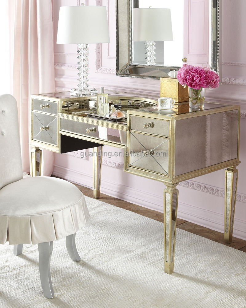 Modern bedroom console dresser dressing make up table with for Mirror vanity