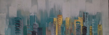 Stretched Abstract painting on Canvas size in 50X150cm