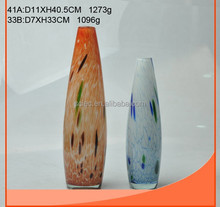 delicate glass vase with decal on it in different color and specifications