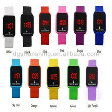 Promotions! square silicone rubber band digital wrist watch